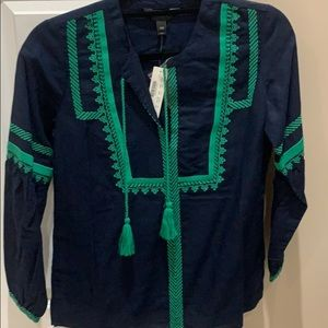 Jcrew embroidered top